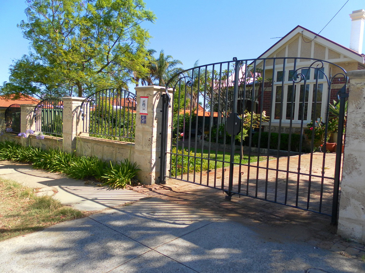 driveway gate forged wrought iron
