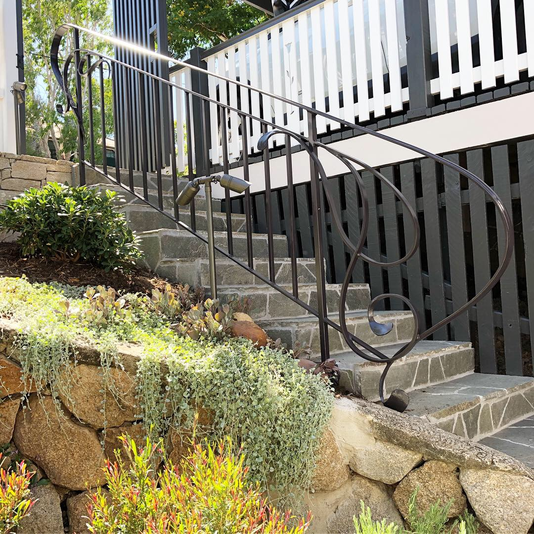 forged wrought ironwork handrail brisbane