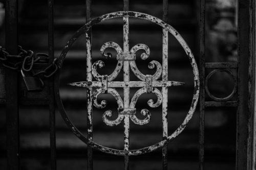 forged gate decorative scrolls
