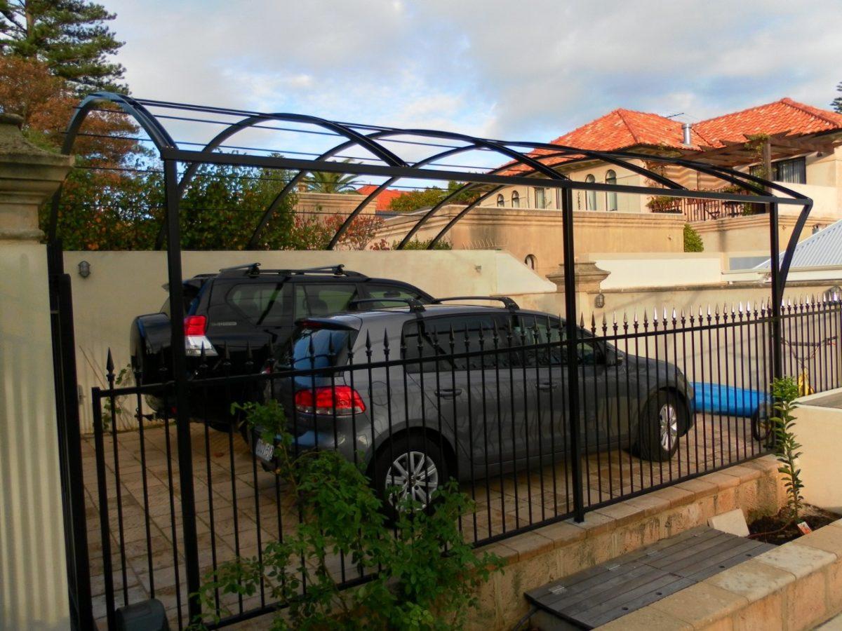 Steel Driveway Pergola