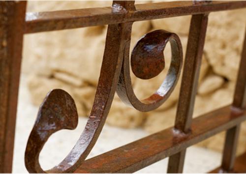 wrought ironwork scroll detail