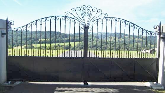 Wrought Iron Driveway Gate Brisbane